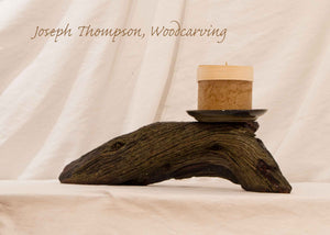 Juniper Candle, Joseph Thompson, Woodcarving #30