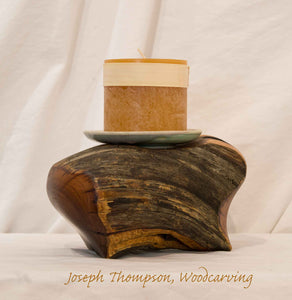 Decorative Candle, Joseph Thompson, Woodcarving