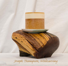 Load image into Gallery viewer, Decorative Candle, Joseph Thompson, Woodcarving
