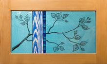 Load image into Gallery viewer, Large Window Hanging, Teal and Blue Branch, Kiki Renander #2