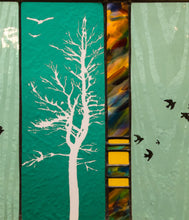 Load image into Gallery viewer, Large Window Hanging, Green with Birds, Kiki Renander  #4