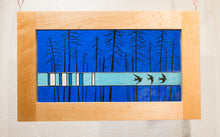 Load image into Gallery viewer, Large Window Hanging, Dark Blue Birds, Kiki Renander #5