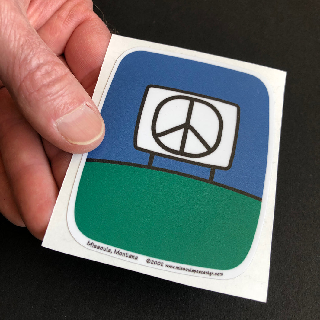 Large Peace Sign Stickers, Green  Glenn Parks