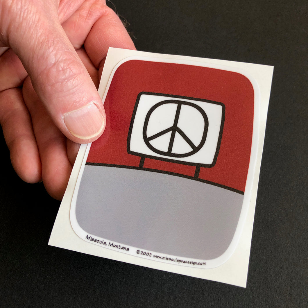 Peace Sign Stickers, Red  Glenn Parks