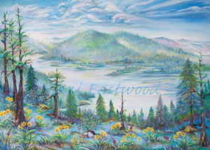 """Salmon Lake, Montana"" 5x7 Greeting Cards (Singles or 3 Pack). Ani Eastwood"