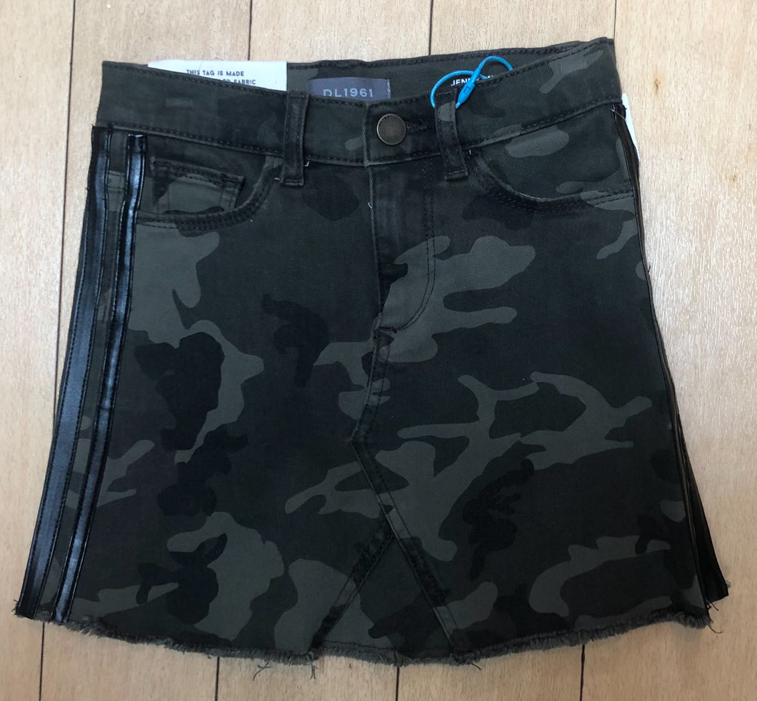 DL 1961 Camo/Leath Tr Skirt