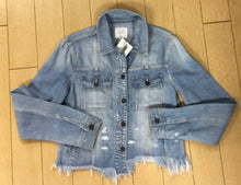 Load image into Gallery viewer, Hidden Light Weight Distressed Denim Jacket
