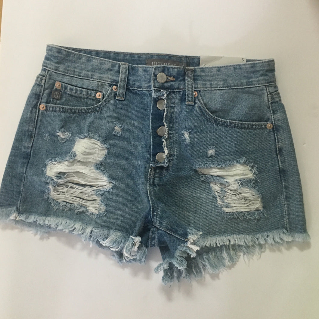 Button Front Boyfriend Short