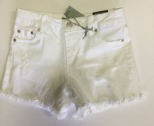 Tractor White Frayed Short