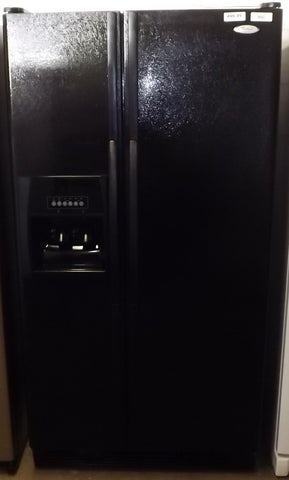 i842 Whirlpool Black Side by Side Refrigerator