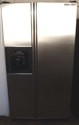i963 KitchenAid Superba Stainless Steel Side by Side Refrigerator