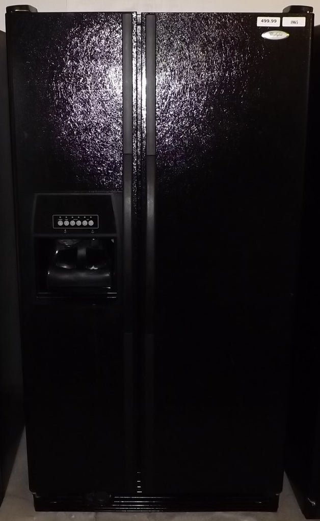 i965 Whirlpool Black Side by Side Refrigerator