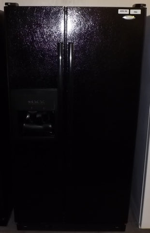 i966 Whirlpool Black Side by Side Refrigerator