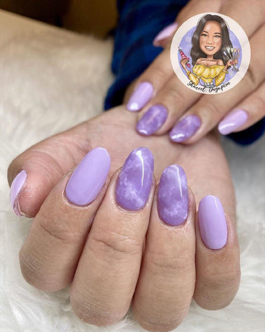 watermark with a logo for a nail tech
