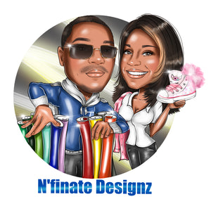 Group cartoon logo - portraitlogo.com