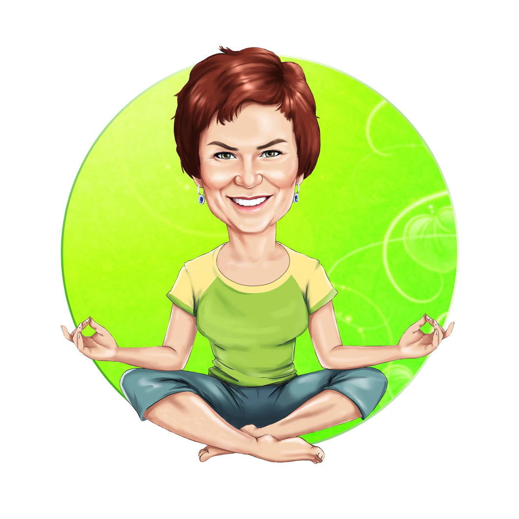 Yoga Instructor Logo - portraitlogo.com