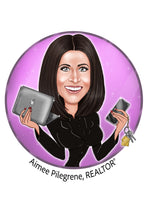 Load image into Gallery viewer, Real Estate Agent Logo - portraitlogo.com