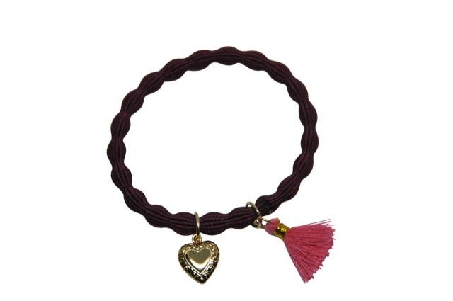 Kknekki hair ties Tassel Bordeaux