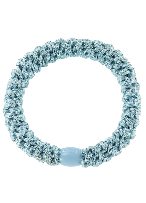 Kknekki hair ties light blue glitter