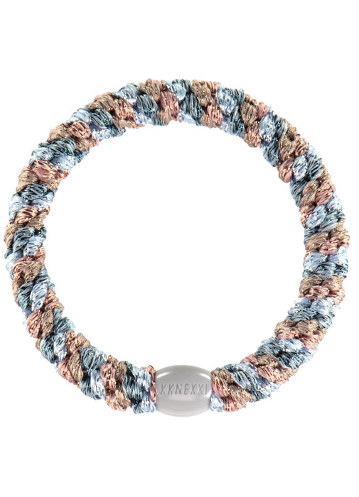 Kknekki hair ties Sea Blue Glitter