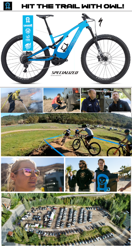 Hit the Trail with Owl - F.I.R.E. Event, Mountain Biking, custom Specialized Kenevo in Blue