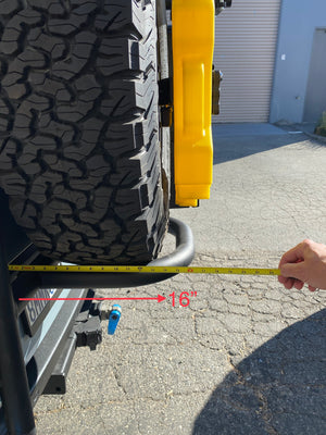 Ladder Tire Carrier for Sprinter