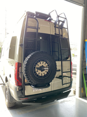 Ladder Tire Carrier on new Sprinter