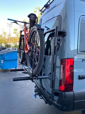 B2 Bike and Cargo Carrier for Sprinter and Revel VS30 from side