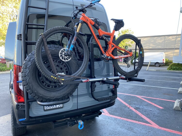 B2 Bike and Cargo Carrier for Sprinter and Revel VS30 with bike