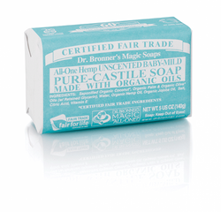 Dr Bronner Hemp Castile Baby Soap Bar 140g