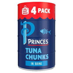 Princes Tuna Chunks in Brine 4 x 145g