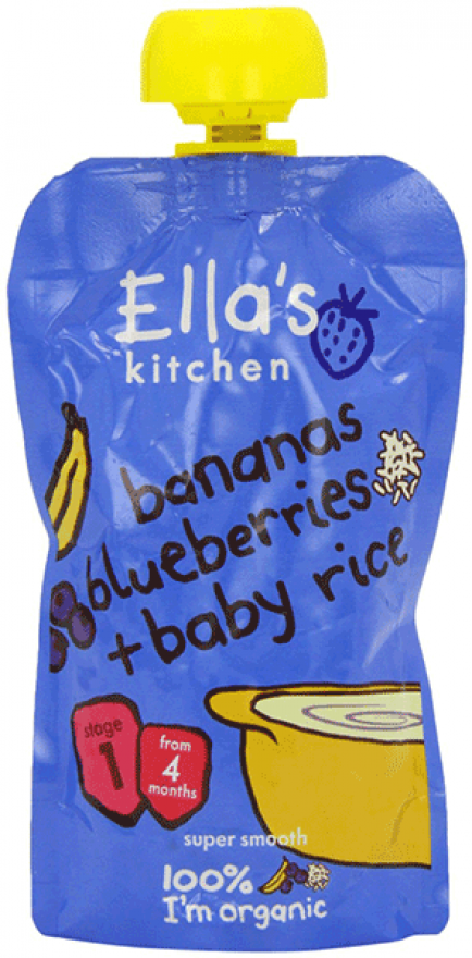 Ella's Banana, Blueberry & Baby Rice 120g