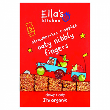 Ella's Organic Nibbly Fingers Strawberry Apple 5 x 25g