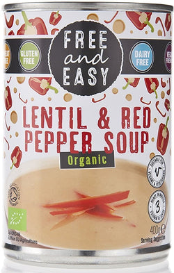 Free & Easy Organic Lentil & Red Pepper Soup 400g