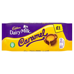 Cadbury Dairy Milk Caramel £1 Chocolate Bar 120g