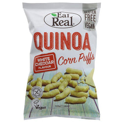 Eat Real Quinoa Puffs Cheddar Cheese 113g