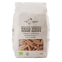 Mr Organic Italian Wholewheat Penne (500g)