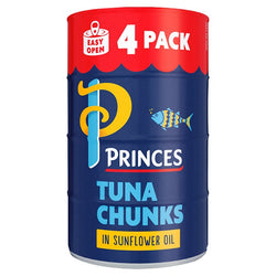 Princes Tuna Chunks in Sunflower Oil 4 x 145g