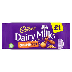 Cadbury Dairy Milk Chopped Nut £1 Chocolate Bar 95g