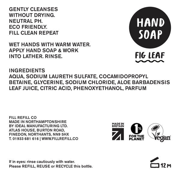 Fill Eco Hand Soap Re-Fill 1ltr