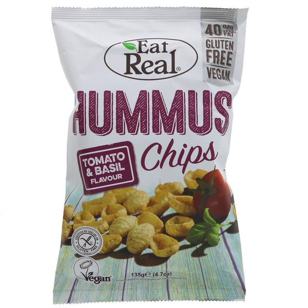 Eat Real Humus Tomato & Basil Chips 135g