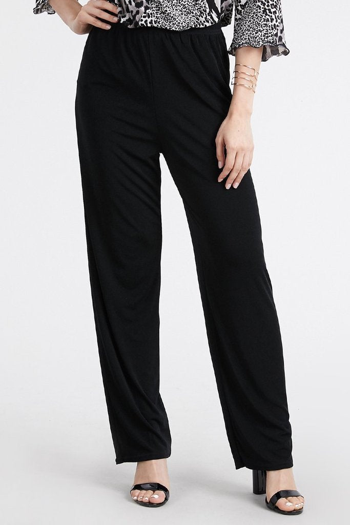 Slinky Wrinkle-Free Pants- Black