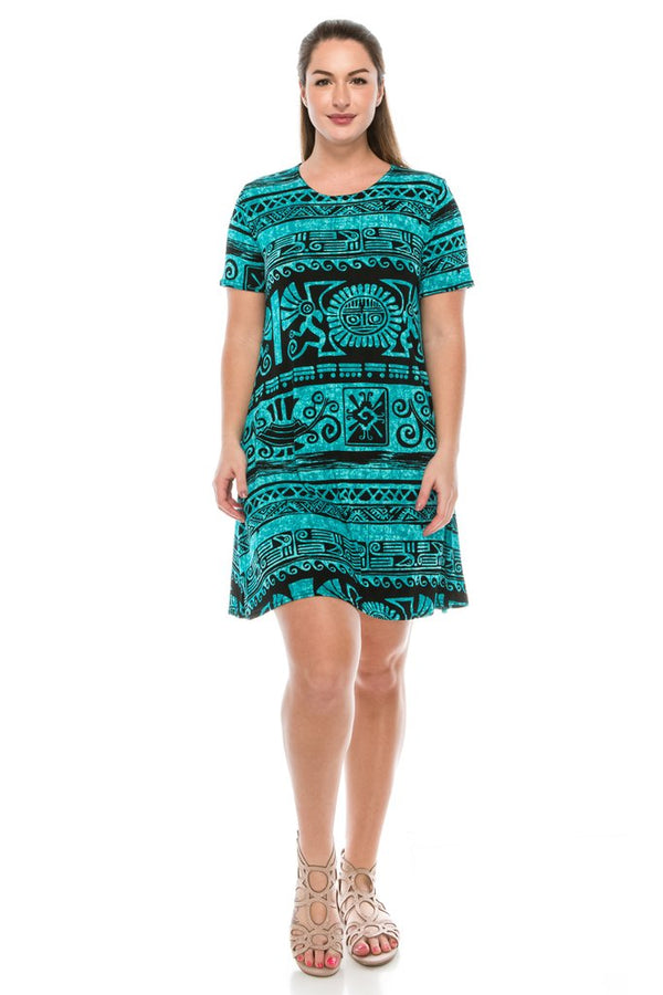 Designer Short Sleeve Missy Dress