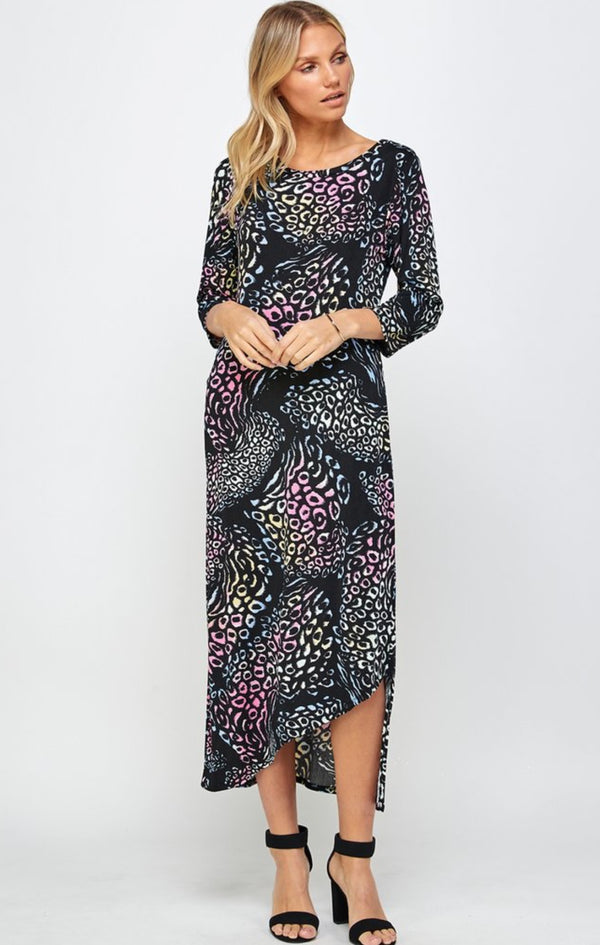 Designer 3/4 Sleeve Missy Full Length Dress