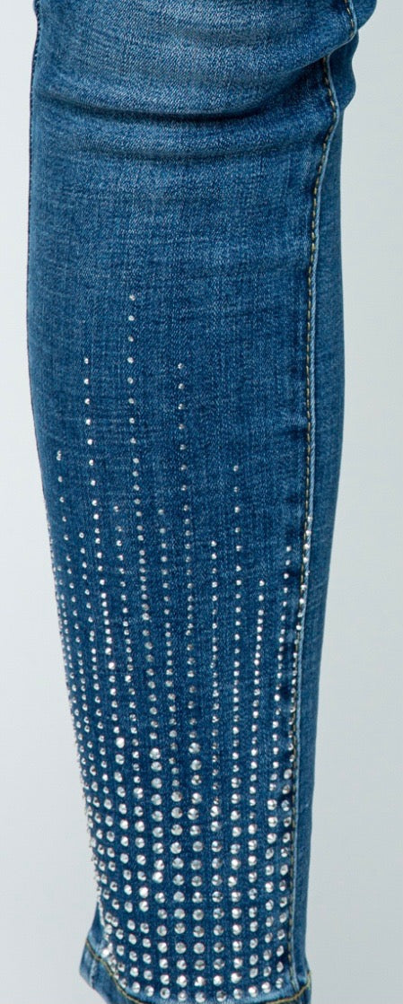 Designer Denim Pants With Stones
