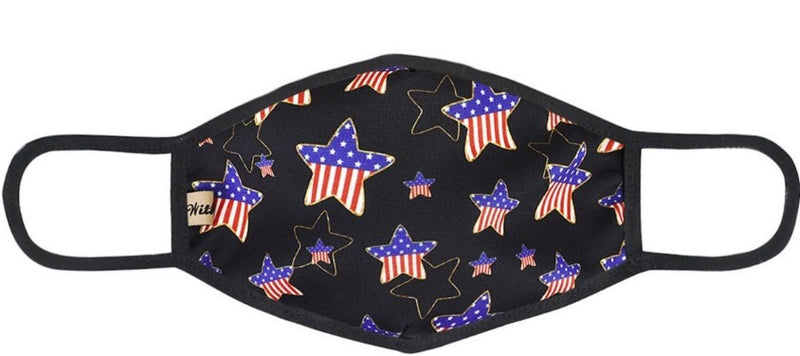 Star Patriotic Designer Face Mask