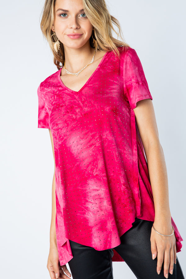 Designer Dyed Short Sleeve Top