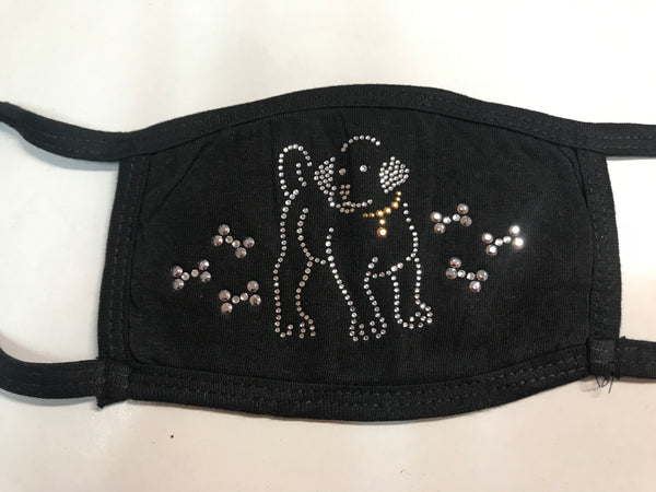 DOG  & BONE BLING FACEMASK