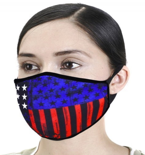 DESIGNER UNI-SEX FACE MASK BOLD PATRIOTIC