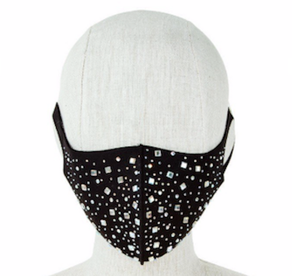 Multiple Shape Rhinestone Accent Fashion Face Mask